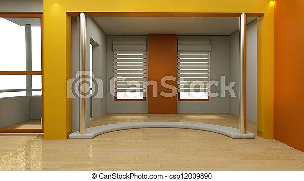 3d Studio TV virtuelles Set - csp12009890