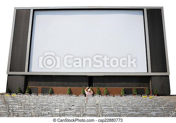 LCD-TV mit leerem Bildschirm isoliert - csp22880773