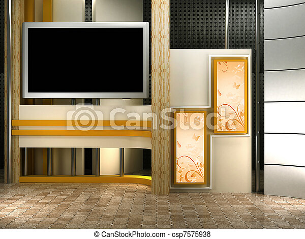 fernsehapparat studio - csp7575938
