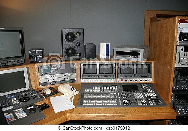 fernsehapparat studio, galerie - csp0173912