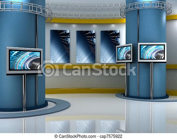 Studio-TV - csp7575922