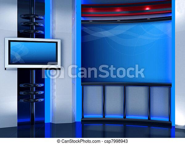 fernsehapparat studio - csp7998943