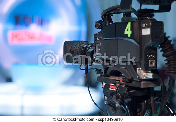 fernsehkamera, studio - csp18496910