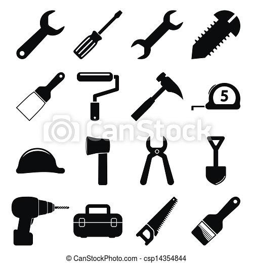 ferramentas, ícones - csp14354844
