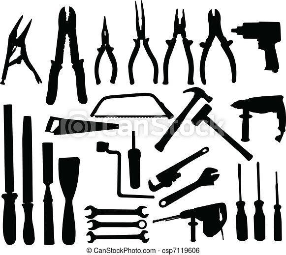ferramentas, cobrança - csp7119606