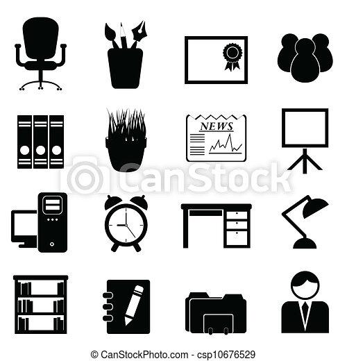 ferramentas, mobília escritório - csp10676529