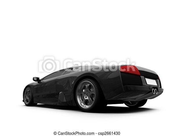 Ferrari isolated back view - csp2661430