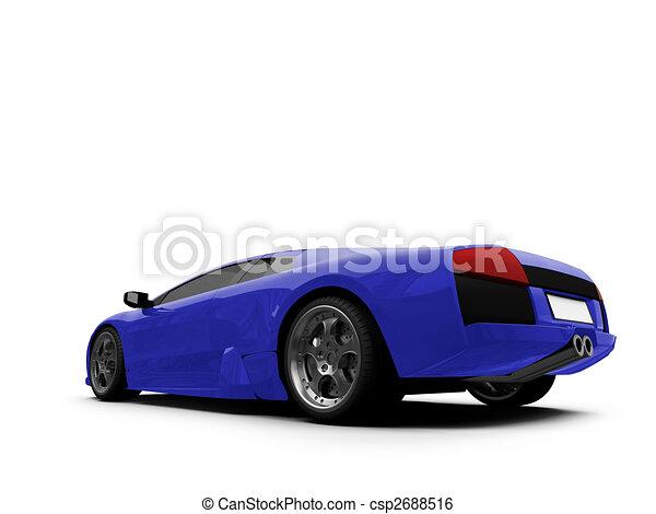 Ferrari isolated blue back view - csp2688516