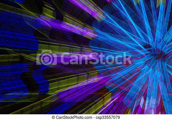 Ferris wheel abstract - csp33557079