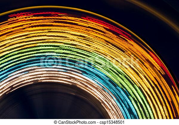 Ferris Wheel Abstract - csp15348501