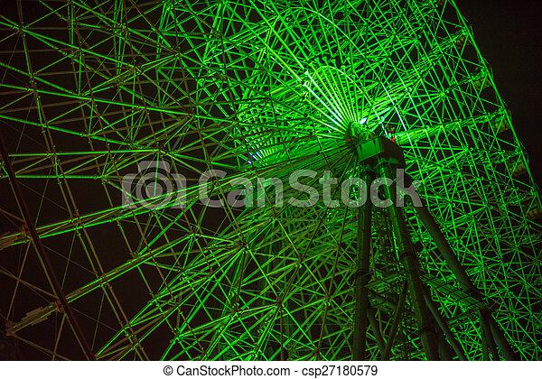 Ferris wheel at night - csp27180579