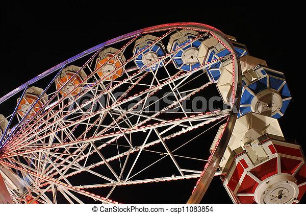 Ferris Wheel at Night - csp11083854