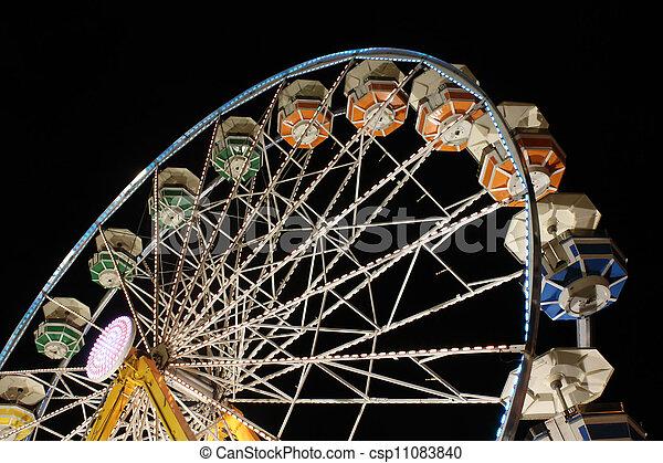 Ferris Wheel at Night - csp11083840
