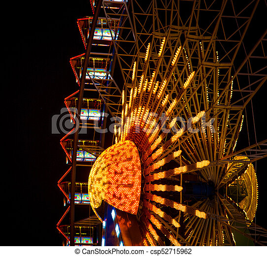 ferris wheel at the christmas market csp52715962