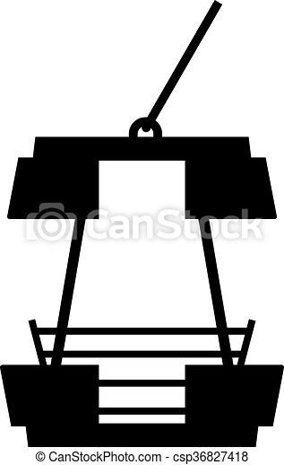 Vector Clip Art Of Ferris Wheel Cabin Shade Picture Csp - Cabin clip art free