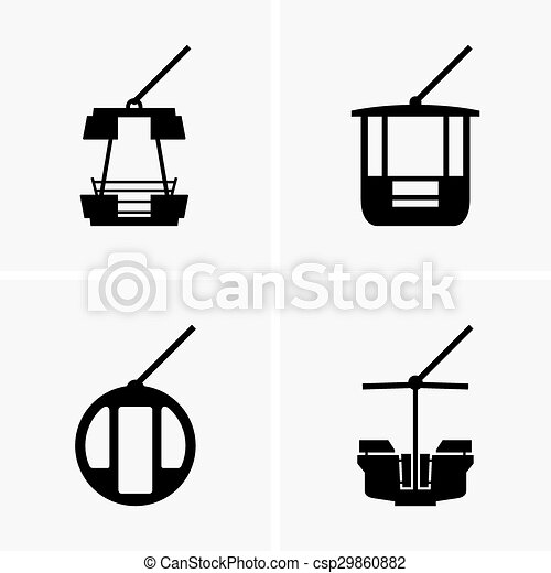 Set of ferris wheel cabins vector search clip art illustration ferris wheel cabins vector ccuart Images