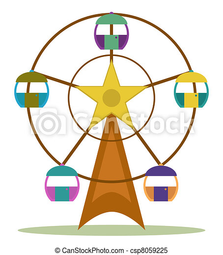 color ferris wheel clipart vector search illustration drawings rh canstockphoto com ferris wheel clipart black and white ferris wheel clipart images