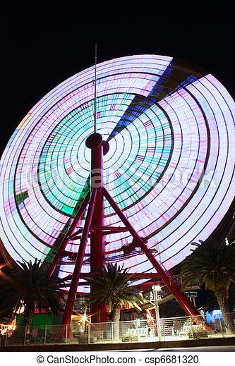 Ferris Wheel in Kobe Japan spinning - csp6681320