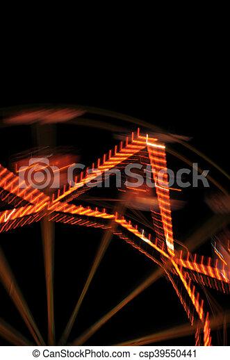 ferris wheel lights - csp39550441