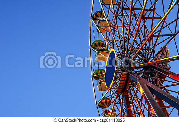Ferris wheel on a background of sky. - csp81113025