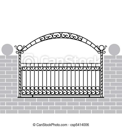 ferro, cerca, arco - csp5414006