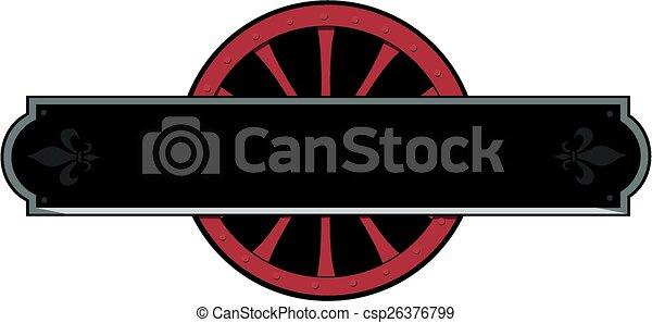 Un cartel de ferrocarril - csp26376799