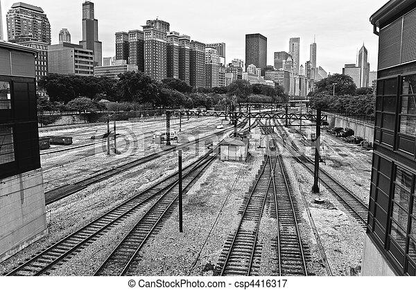 El tren de Chicago - csp4416317