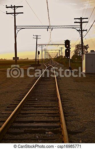 Ferrocarril en Illinois - csp16985771