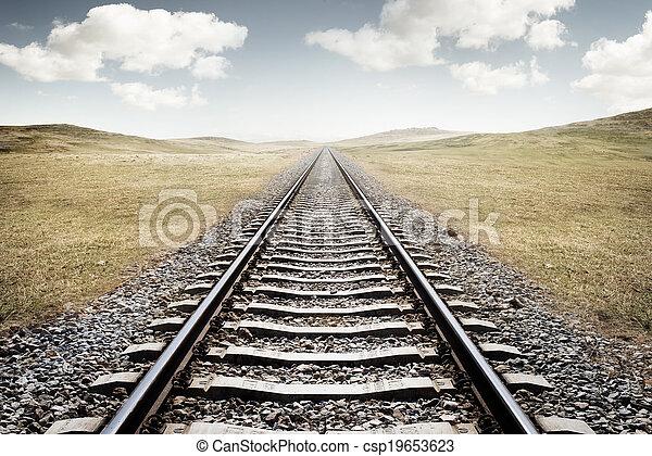 ferroviaire, pistes - csp19653623