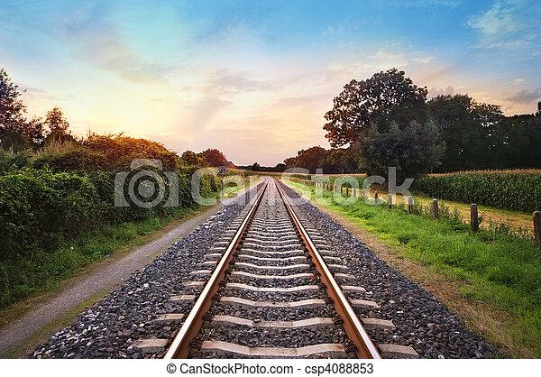 ferroviaire, pistes - csp4088853