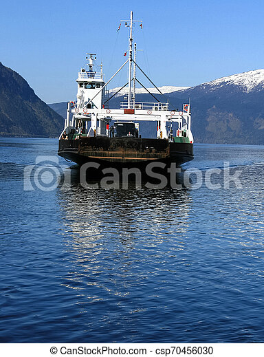 Ferry ship in Norway - csp70456030