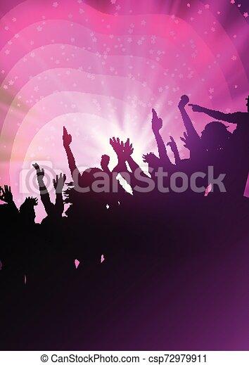 festa, astratto, fondo, folla - csp72979911