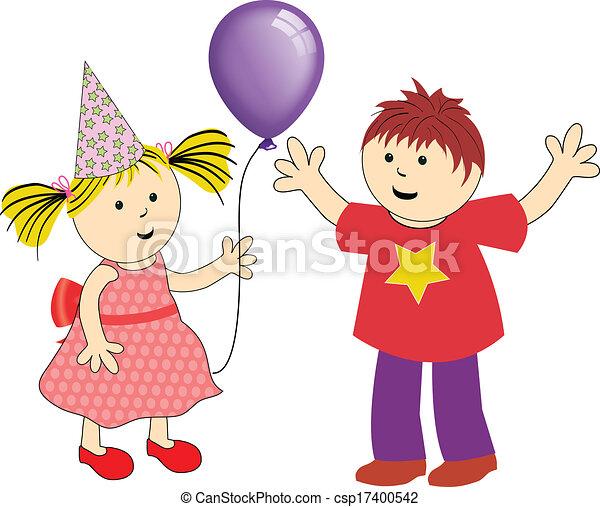 festa, bambini - csp17400542