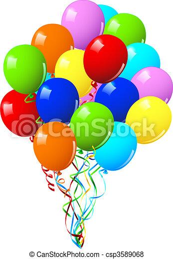 festa, compleanno, palloni, o, celebrazione - csp3589068