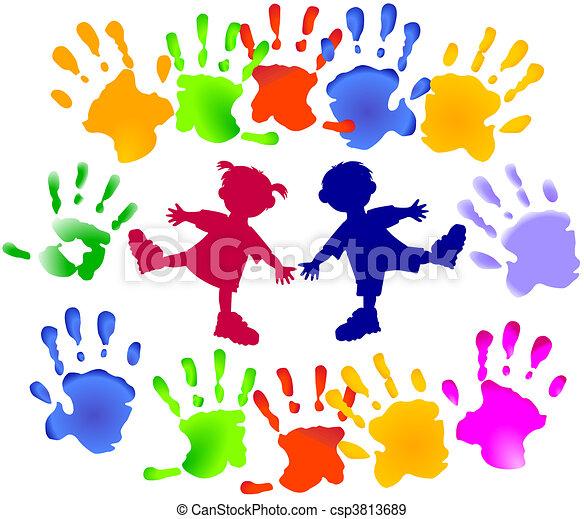 festa, giovani bambini - csp3813689