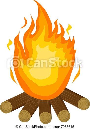 festa junina fire icon flat cartoon style bonfire vector clip rh canstockphoto com