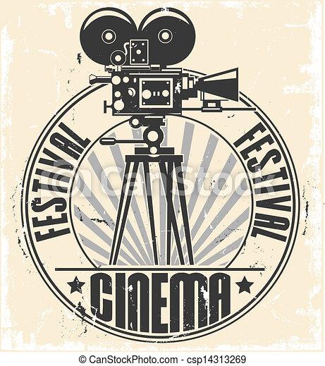 festival, cinema, stamp. - csp14313269