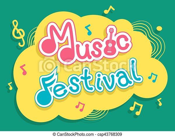 festival, música, desenho - csp43768309