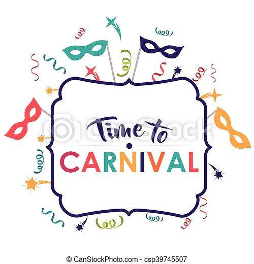 Festival masque conception banderole carnaval - Dessin banderole ...