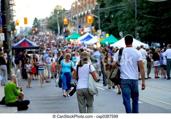 festival, rue - csp0387599