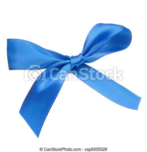 Festive blue gift bow - csp9305529