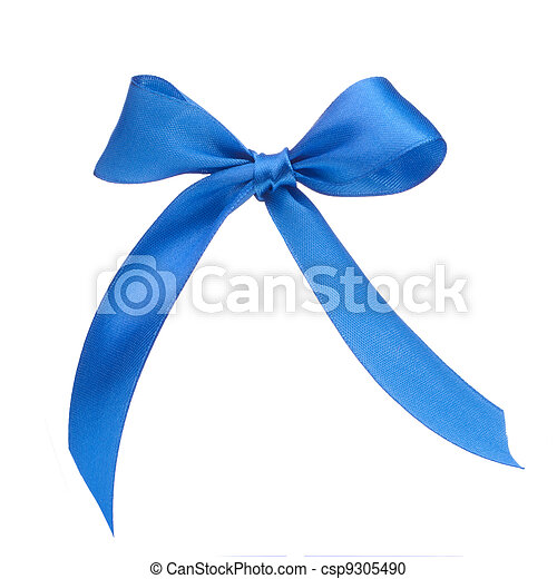 Festive blue gift bow - csp9305490
