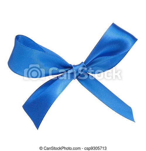 Festive blue gift bow - csp9305713