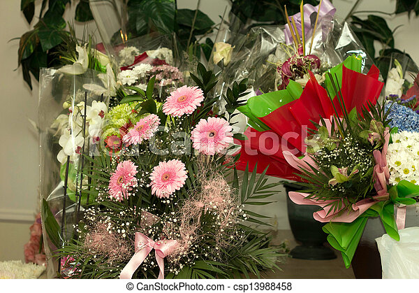Festive bunches of flowers - csp13988458