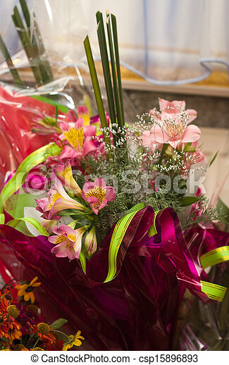 Festive bunches of flowers - csp15896893