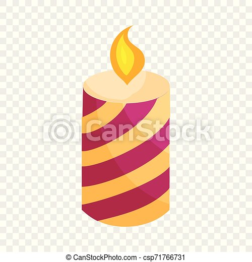 Festive candle icon, cartoon style - csp71766731