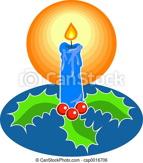 Festive Candle - csp0016706