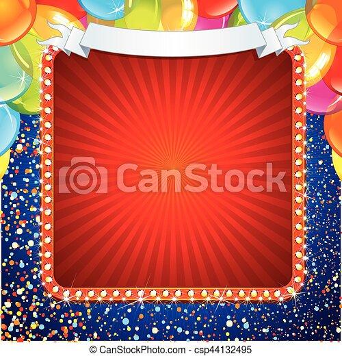 Festive Celebration Sign Design - csp44132495