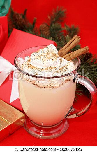 Festive Christmas Eggnog - csp0872125