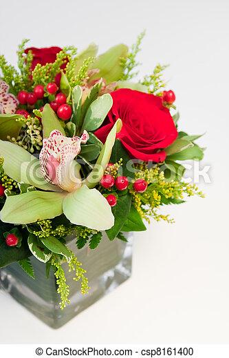 Festive Floral Arrangement - csp8161400